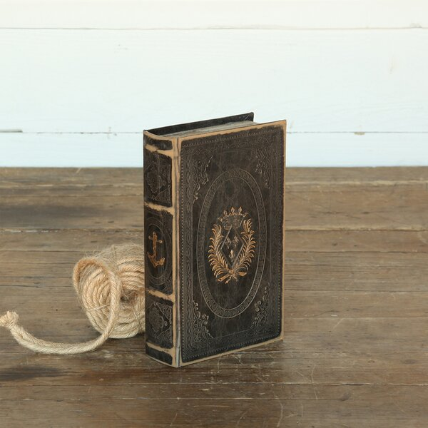 Dabney Anchor Embossed Book Decorative Box by Longshore Tides