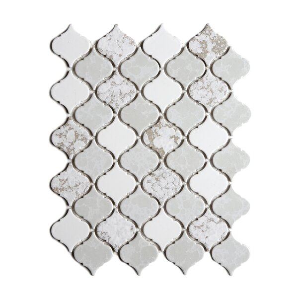 Tessen 2.2 x 2.5 Porcelain Mosaic Tile in Mystic White by Solistone