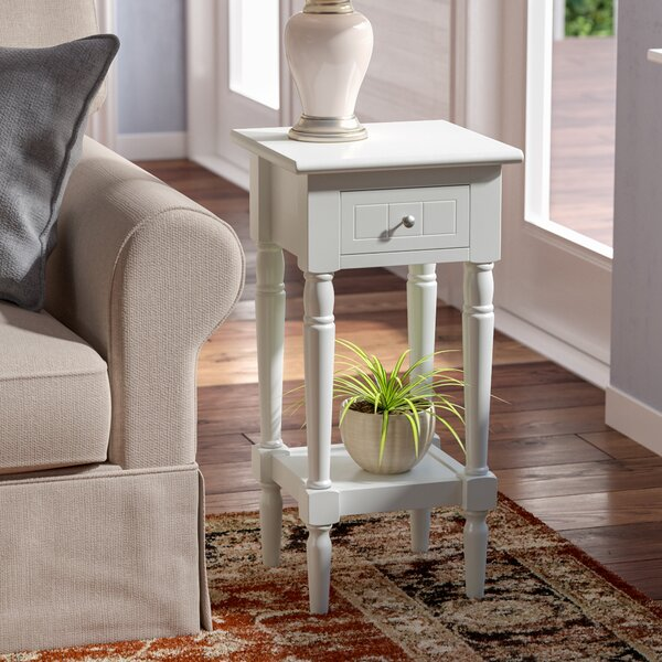 Axtell End Table With Storage  by Three Posts