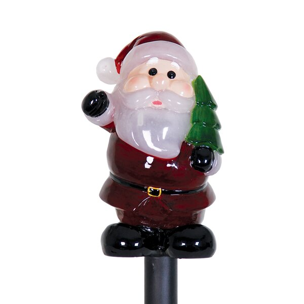 Solar Santa Claus Plant Stake Christmas Decoration by Exhart