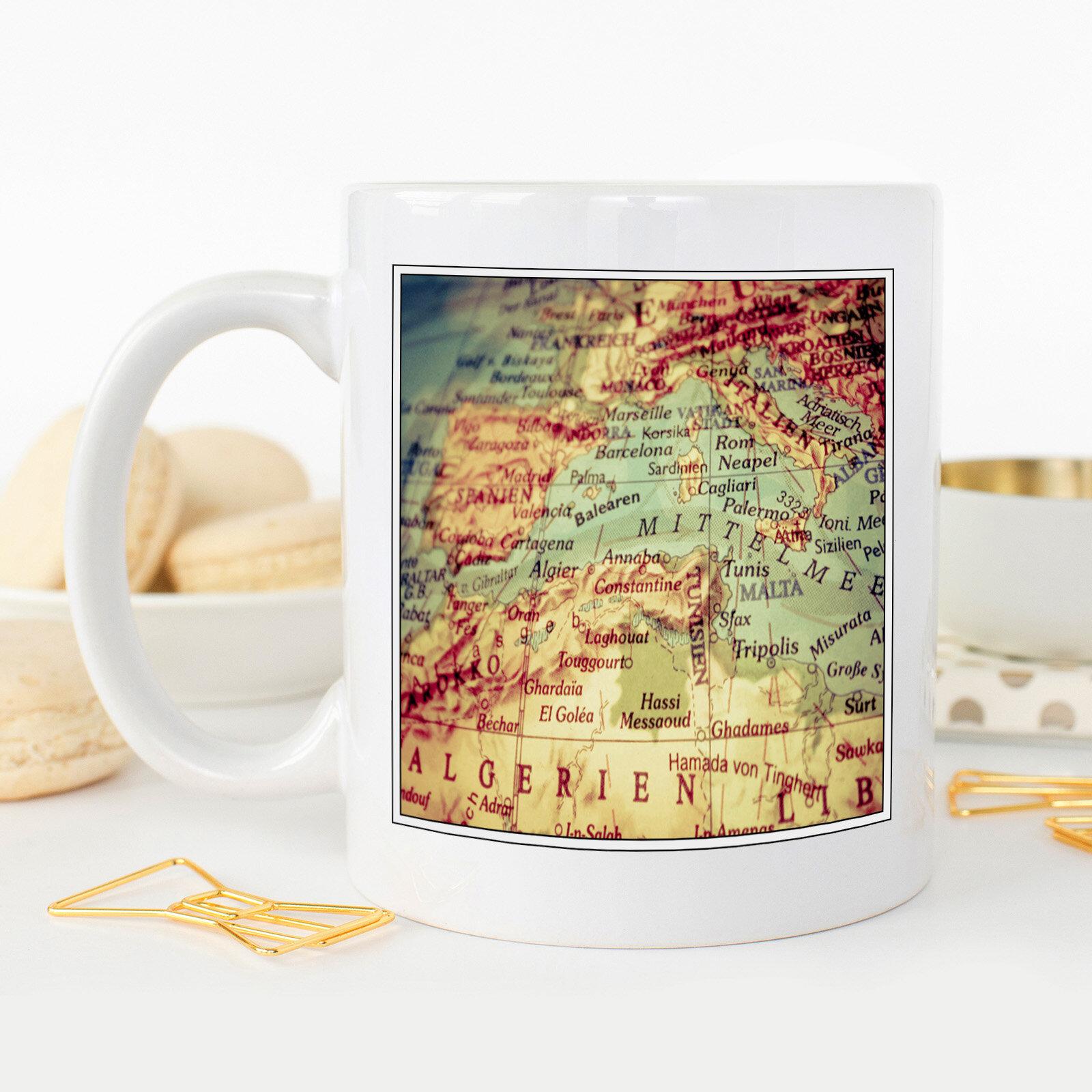 Big Box Art Globe World Map Coffee Mug Wayfair Co Uk
