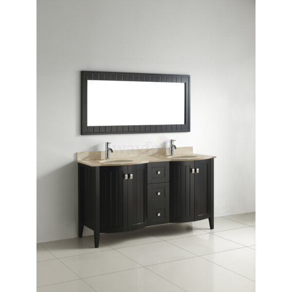Ridgeport 60 Double Bathroom Vanity Set with Mirror by Bauhaus Bath