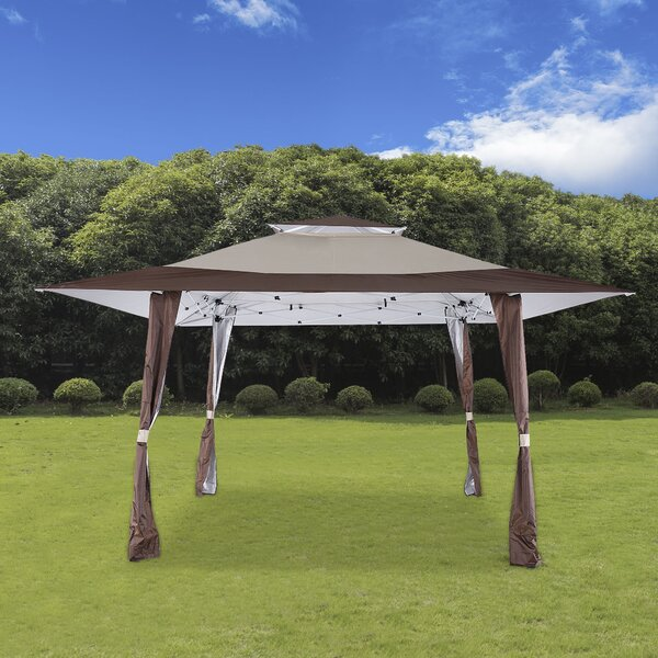 13 Ft. W x 13 Ft. D Steel Pop-Up Party Tent by Cloud Mountain Inc.