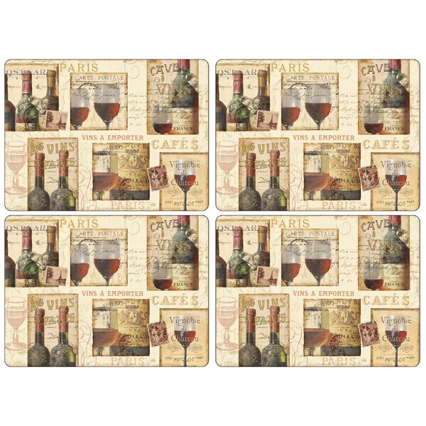 The French Cellar Placemat (Set of 4) by Pimpernel