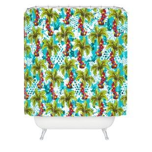 Jade Tropical Christmas Shower Curtain ByThe Holiday Aisle