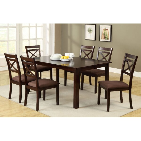 Thor 7 Piece Solid Wood Dining Set by Red Barrel Studio