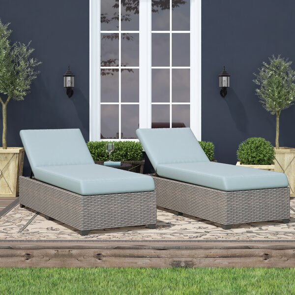 Merlyn Outdoor Chaise Lounge with Cushion by Sol 72 Outdoor Sol 72 Outdoor
