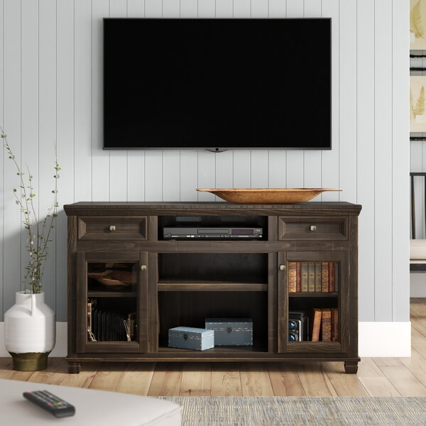 Carlene Solid Wood TV Stand For TVs Up To 61 Inches By Laurel Foundry Modern Farmhouse