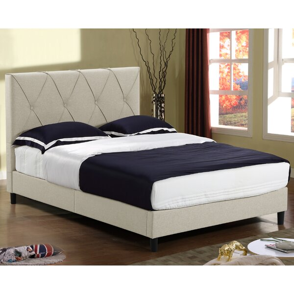 Alberto Queen Upholstered Platform Bed by Charlton Home