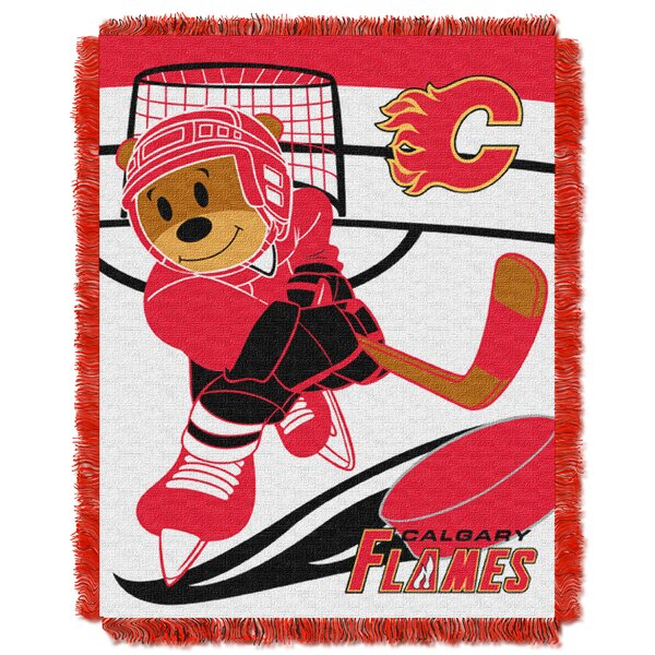 NHL Flames Baby Woven Throw Blanket by Northwest Co.