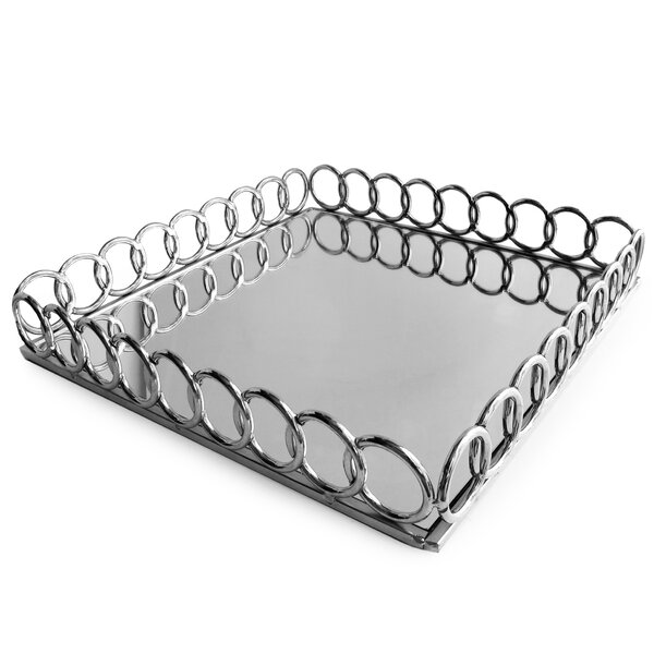 Loop Square Serving Tray by Allure by Jay