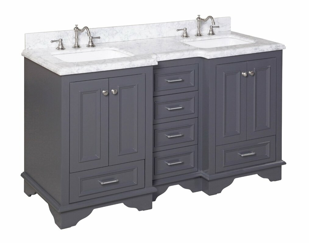 60 double sink bathroom vanity. Nantucket 60  Double Sink Bathroom Vanity Set KBC Reviews Wayfair