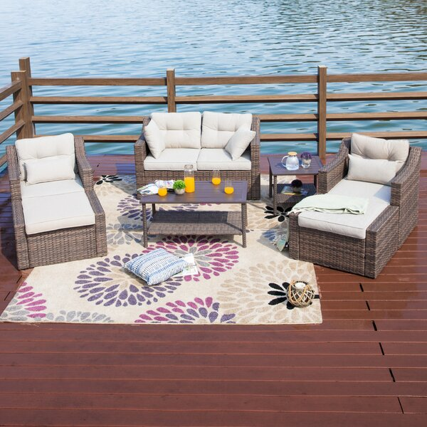 Kunkel 7 Piece Sofa Seating Group with Cushions by Highland Dunes