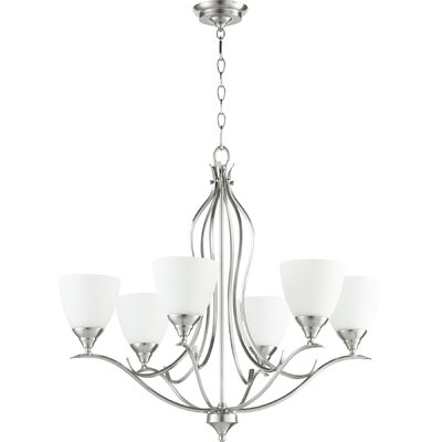 Harnois 6 light shaded chandelier