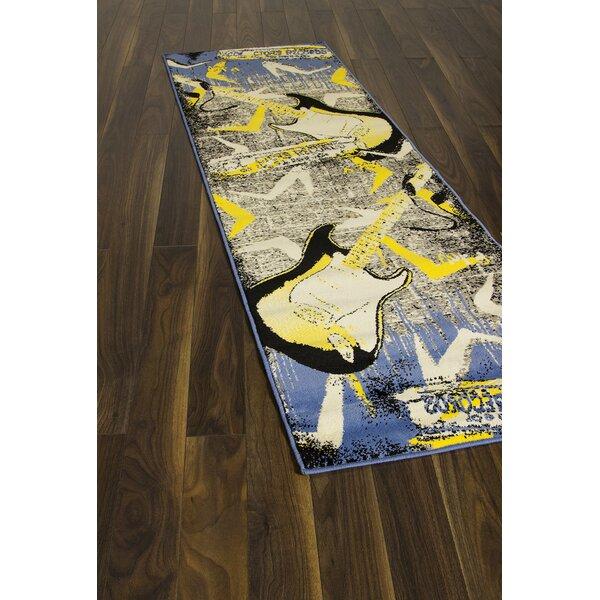 Dyanna Gray/Blue Area Rug by Ebern Designs