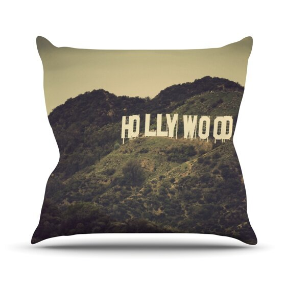 Hollywood Outdoor Throw Pillow by East Urban Home