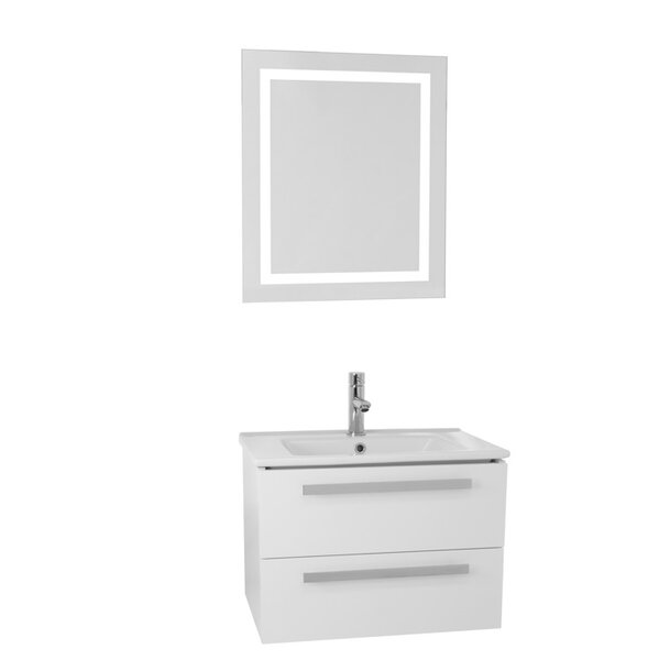 Dadila 24.4 Single Bathroom Vanity Set with Mirror by Nameeks Vanities