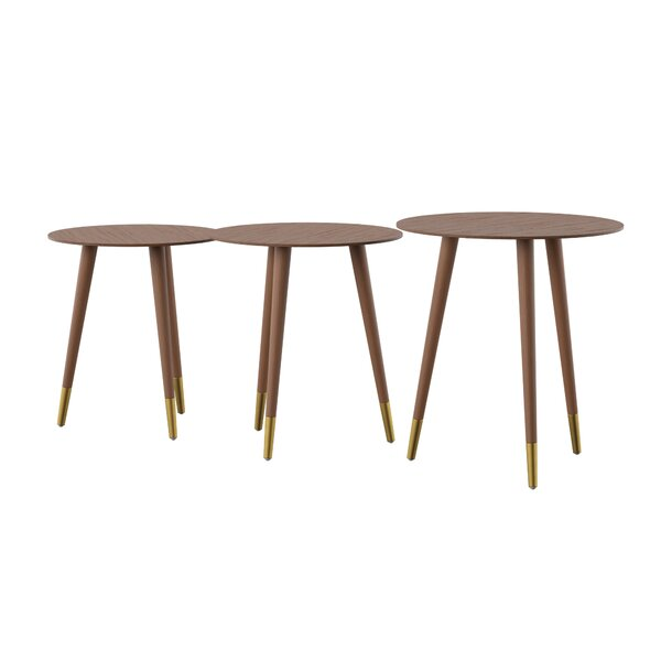 Jessa 3 Piece End Table by Corrigan Studio
