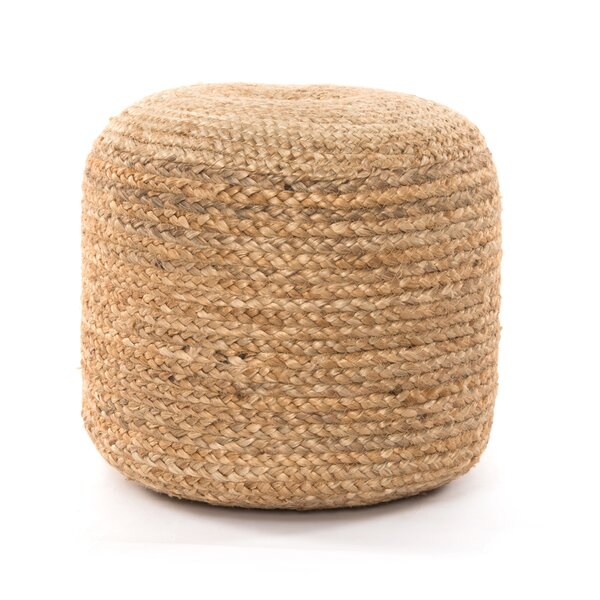 Tobin Jute Braided Pouf by Bayou Breeze