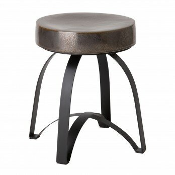 Dunstanburgh Metal Accent Stool by Ivy Bronx