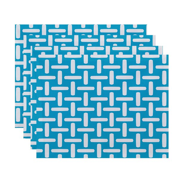 Geometric Decorative Placemat (Set of 4) by e by design