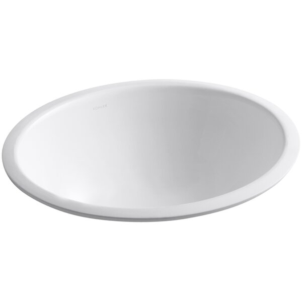 Caxton Ceramic Oval Undermount Bathroom Sink by Kohler