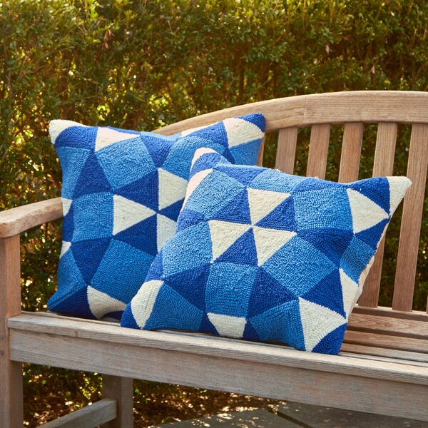 Abstract Puzzle Decorative Indoor Outdoor Throw Pillow (Set of 2) by Breakwater Bay
