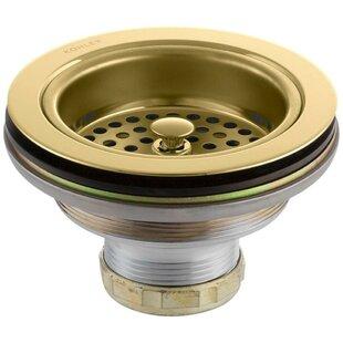 Brass kitchen sink drains youll love wayfair brass kitchen sink drains workwithnaturefo