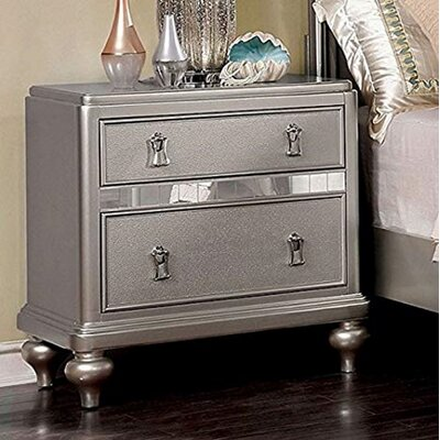 Shop Now For The Hoskinson 2 Drawer Nightstand House Of Hampton Color Gray Ibt Shop