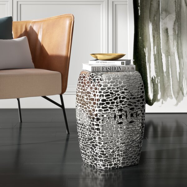 Knudsen Ceramic Garden Stool by Mercury Row