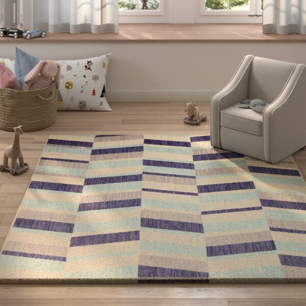 Paulette Aqua Area Rug by Harriet Bee