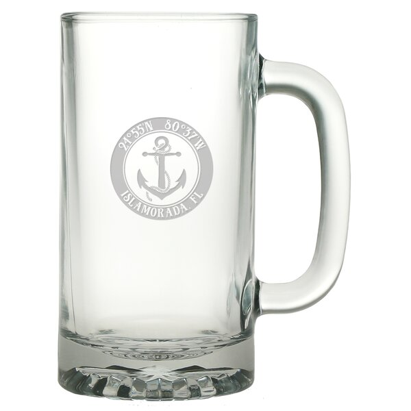 Galvez Anchor 16 oz. Glass Beer Mug (Set of 4) by Longshore Tides
