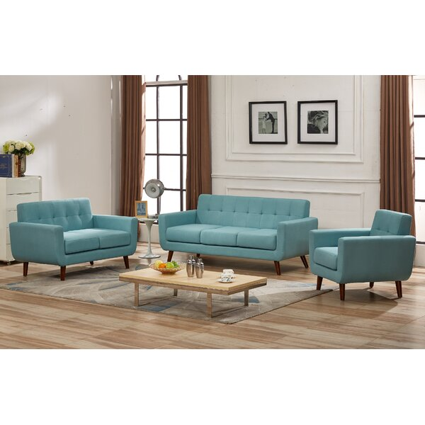 Luciano 3 Piece Living Room Set (Set of 3) by George Oliver
