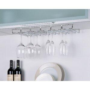 Hanging Wine Glass Rack (Set of 6) by Rebrilliant