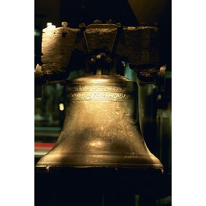 'Close-up of a Bell, Liberty Bell, Philadelphia, Pennsylvania' Photographic Print on Canvas by East Urban Home