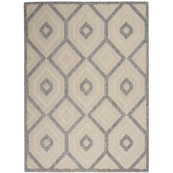 Moret Power Loom Cream/Gray Indoor/Outdoor Use Rug
