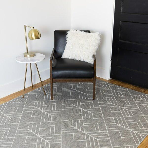 Ammons Geometric Gray Indoor/Outdoor Area Rug