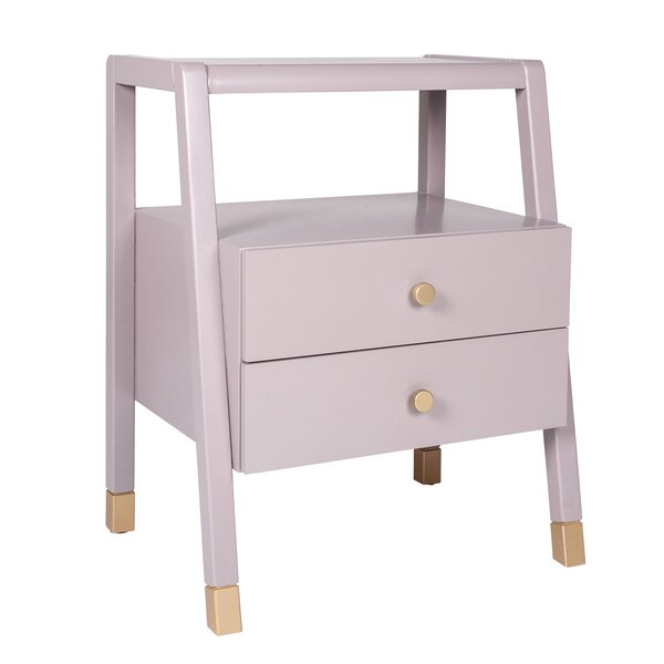 Doynton Solid Wood 2 Drawer End Table By Mercer41