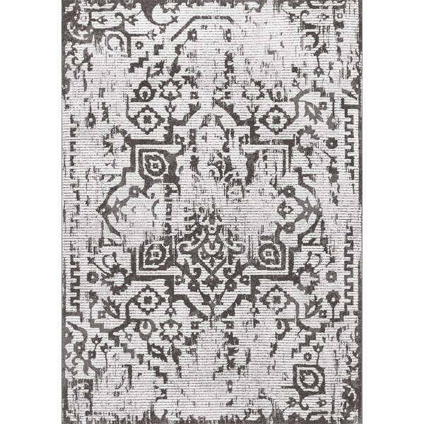 Peterman Light Gray Area Rug by Bungalow Rose