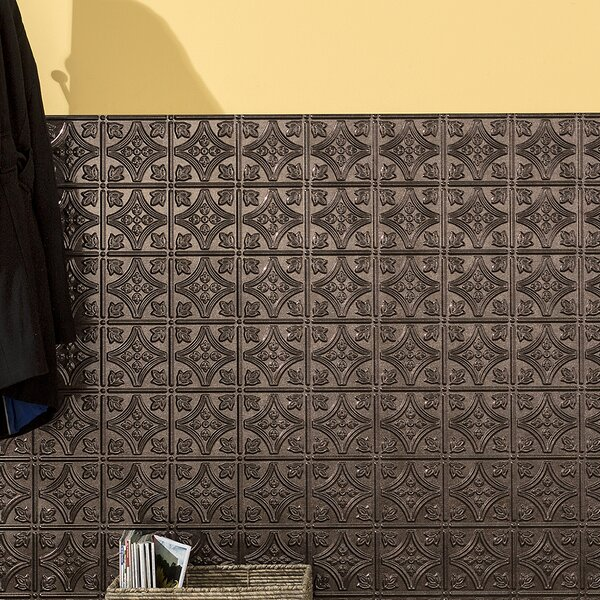 Traditional 48 x 96 PVC Backsplash Panel in Smoked Pewter by Fasade
