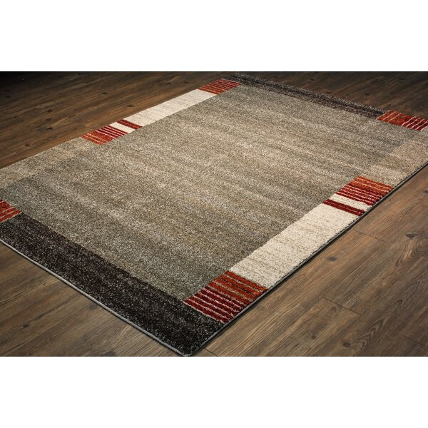 Eickhoff Persian Ivory/Rust Area Rug by Orren Ellis