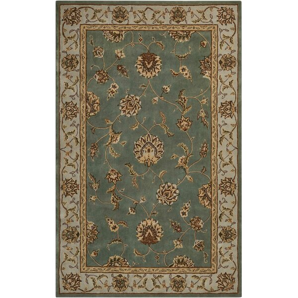 Freeport Handmade Blue/Taupe Area Rug by Darby Home Co