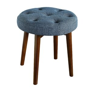 Enjoyable Penelope Round Tufted Accent Stool Creativecarmelina Interior Chair Design Creativecarmelinacom