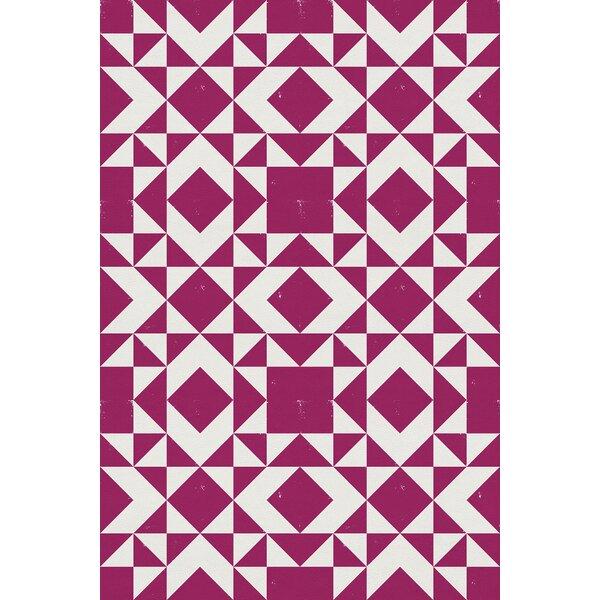 Sundance Power Loom Pink/White Rug