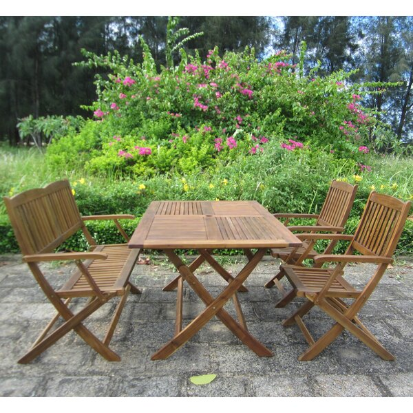 Mariel Folding 4 Piece Dining Set by Rosecliff Heights