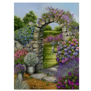 Beau U0027Cottage Garden Archu0027 Acrylic Painting Print On Wrapped Canvas