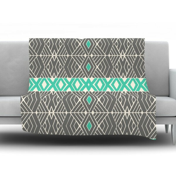 Going by Pom Graphic Design Fleece Throw Blanket by KESS InHouse