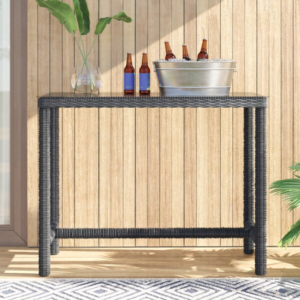Alaia Glass  Bar Table by Brayden Studio