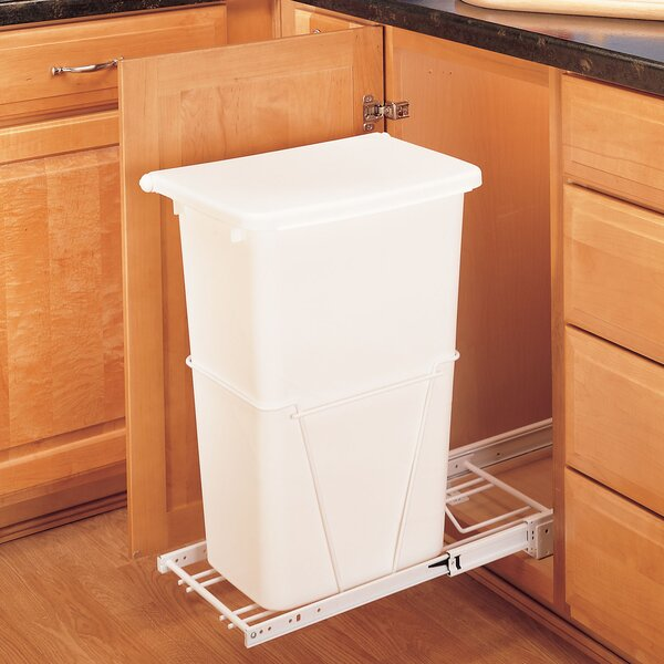Plastic 12.5 Gallon Pull Out Trash Can by Rev-A-Shelf