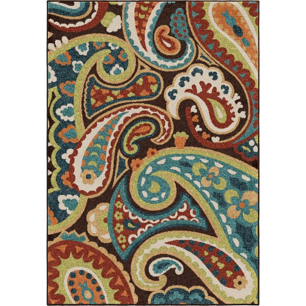 Margarita Brown Indoor/Outdoor Area Rug by Sol 72 Outdoor